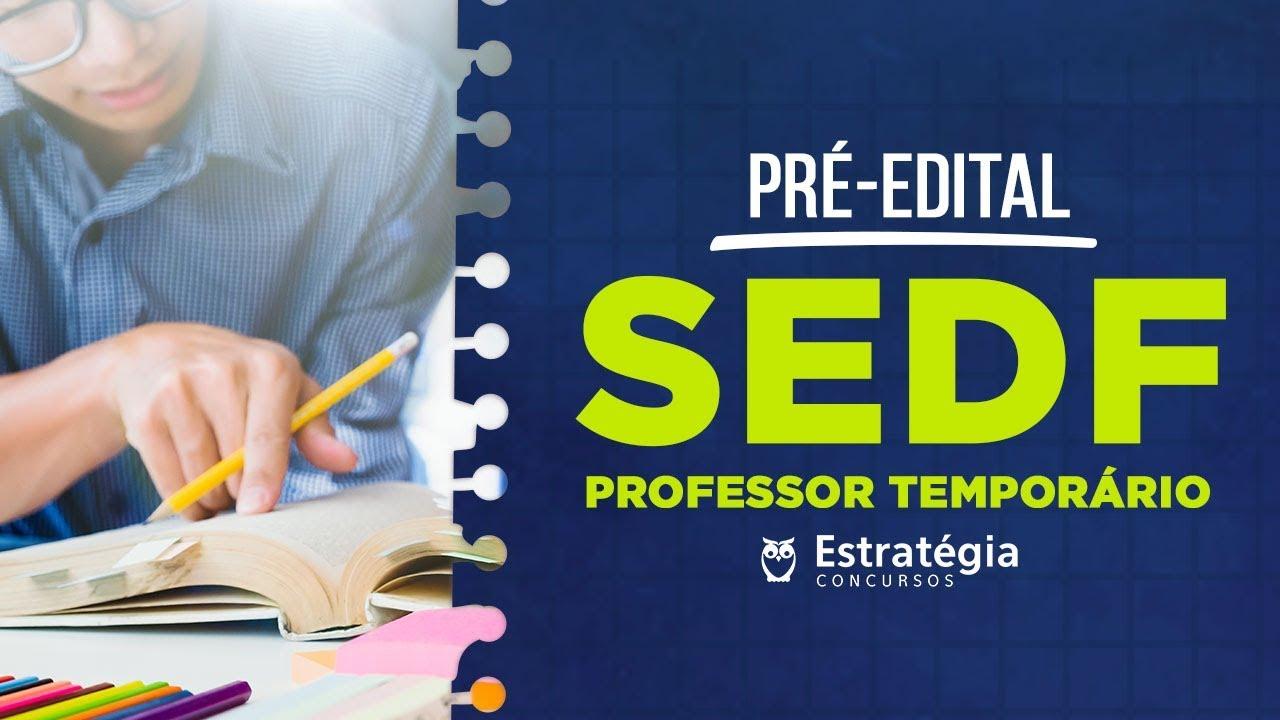 Concurso SEDF: Aulão Pré-Edital com dicas de Estudo