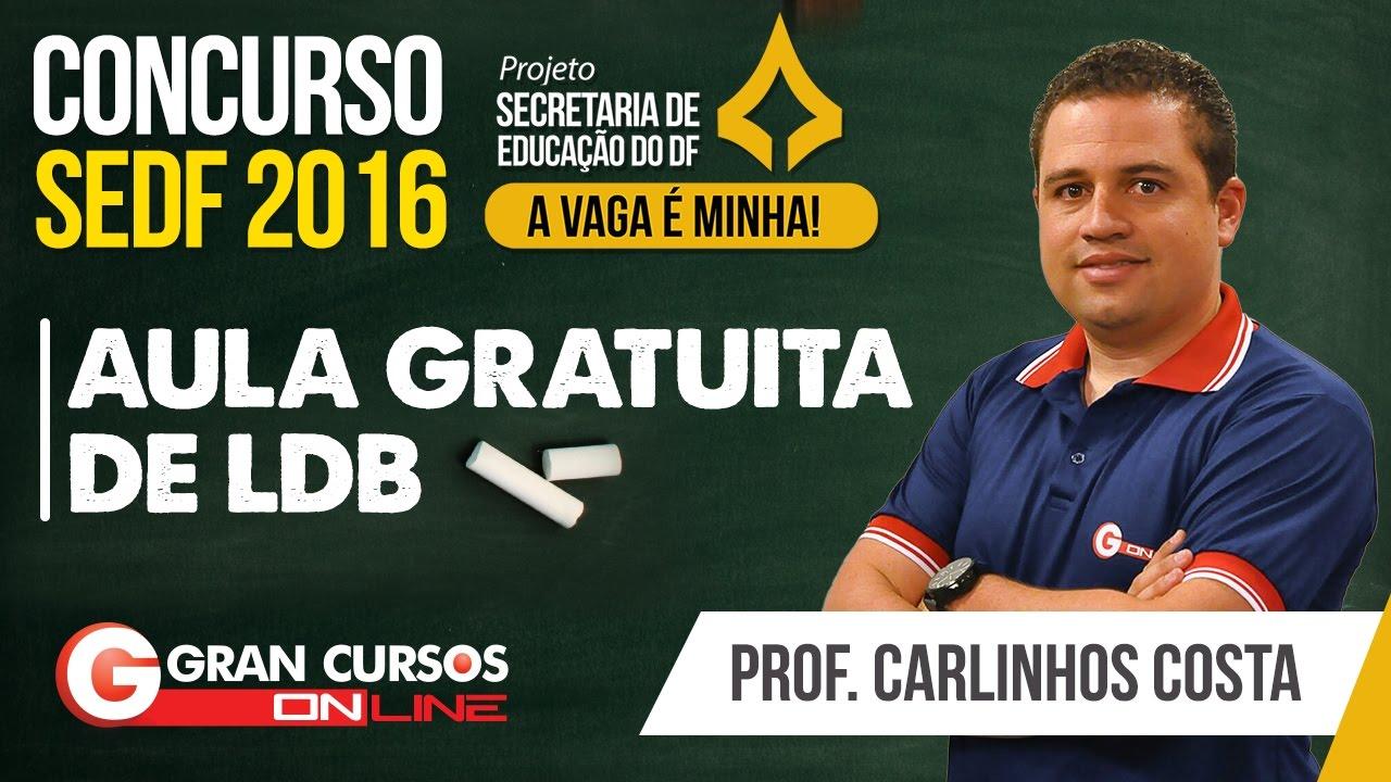 Concurso SEDF | Aula gratuita de LDB com o professor Carlinhos Costa