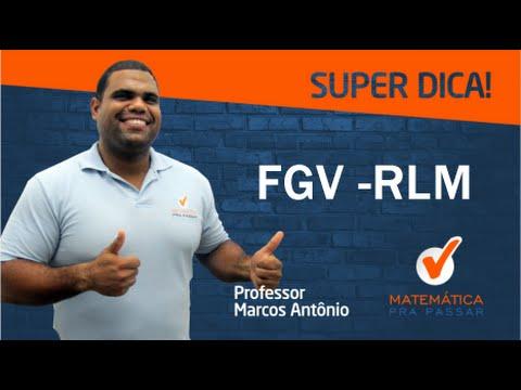 Dica de RLM da Banca FGV para Concursos