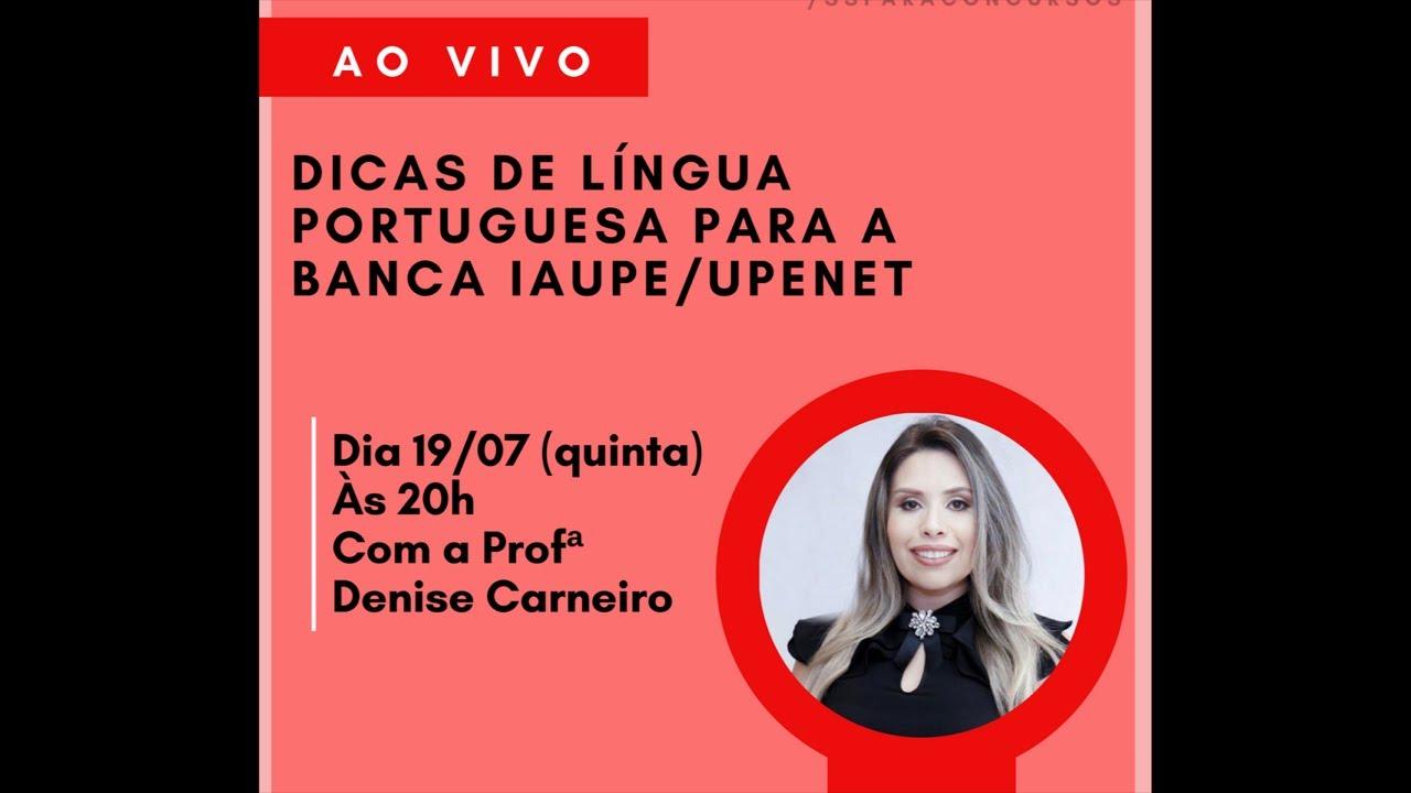 Dicas de língua portuguesa para concursos - Prof Denise Carneiro