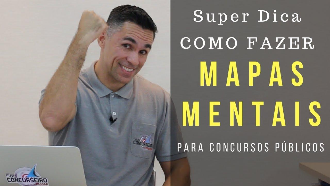SUPER DICA DE COMO FAZER MAPAS MENTAIS PARA CONCURSOS PÚBLICOS