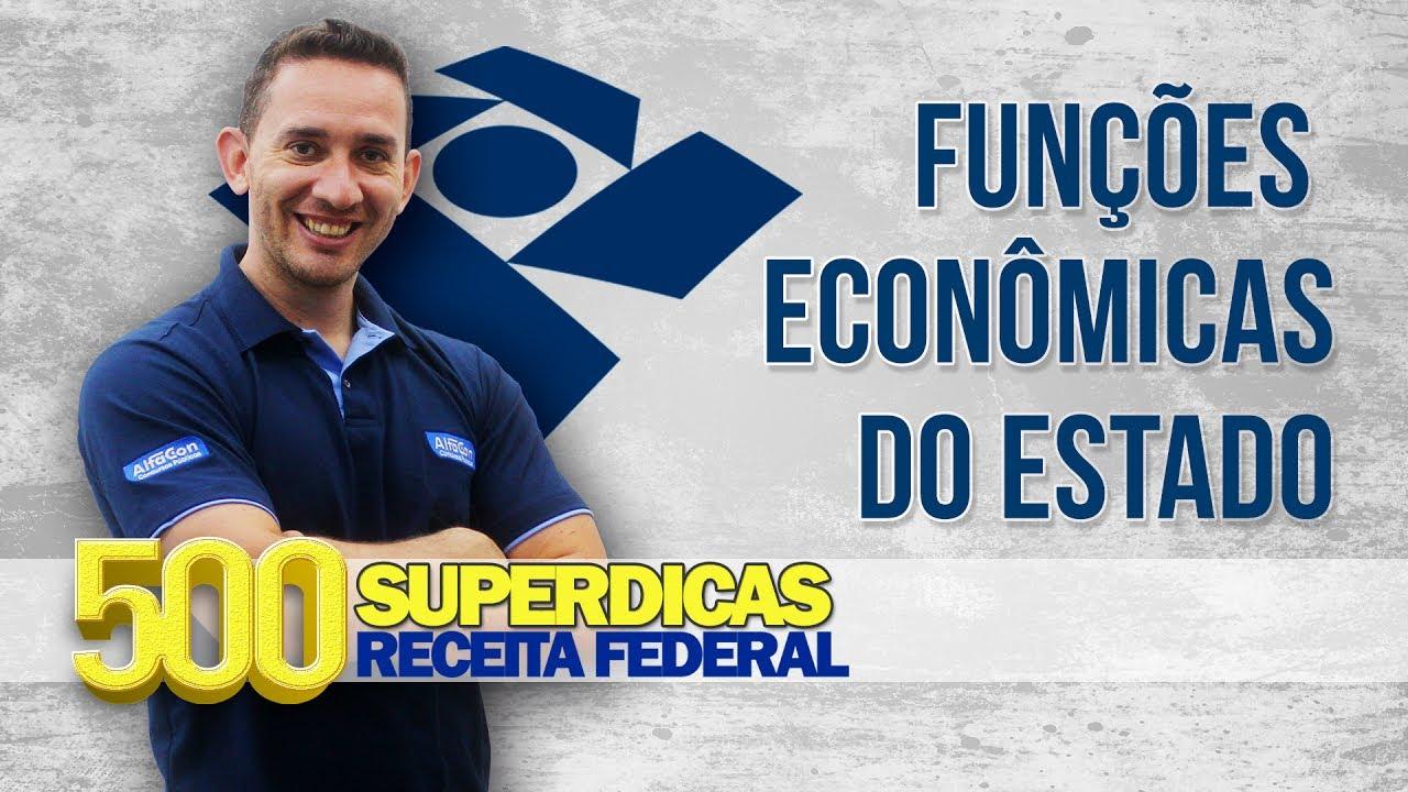 💊 AFO - Funções Econômicas do Estado - Dica nº 88 - Receita Federal - AlfaCon Concursos Públicos