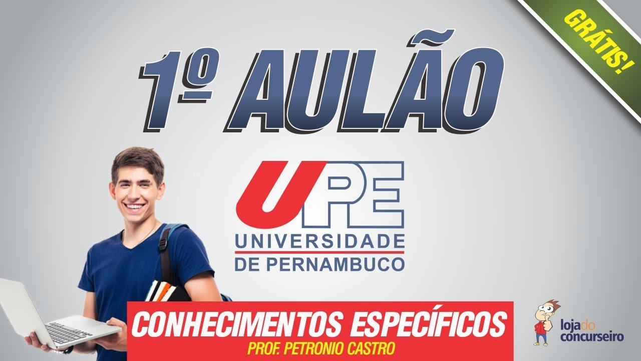 1º AULÃO - Concurso UPE 2017 - Assistente Administrativo - Conhecimentos Específicos