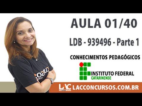 Aula 01/40 - Concurso IFC-SC 2016 - LDB   9394/96   Parte 1