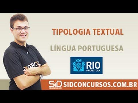 Aula 24/45 - Concurso da Prefeitura do Rio 2016 - Tipologia Textual - Língua Portuguesa