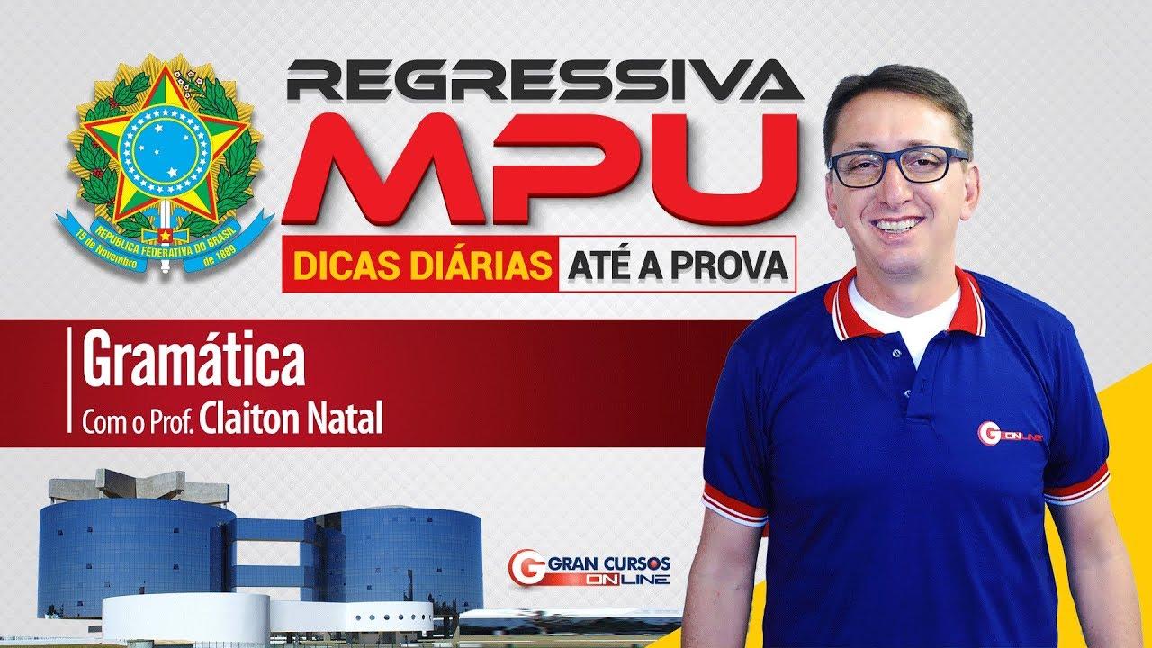 "Dicas Flashcard MPU | Regência do Verbo ""Atentar"" - Prof. Claiton Natal"