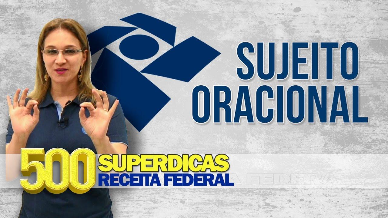 Língua Portuguesa - Sujeito Oracional   Dica nº27   Receita Federal - AlfaCon Concursos Públicos