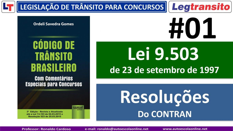 LEGISLAÇÃO de TRÂNSITO para CONCURSOS - Aula 01
