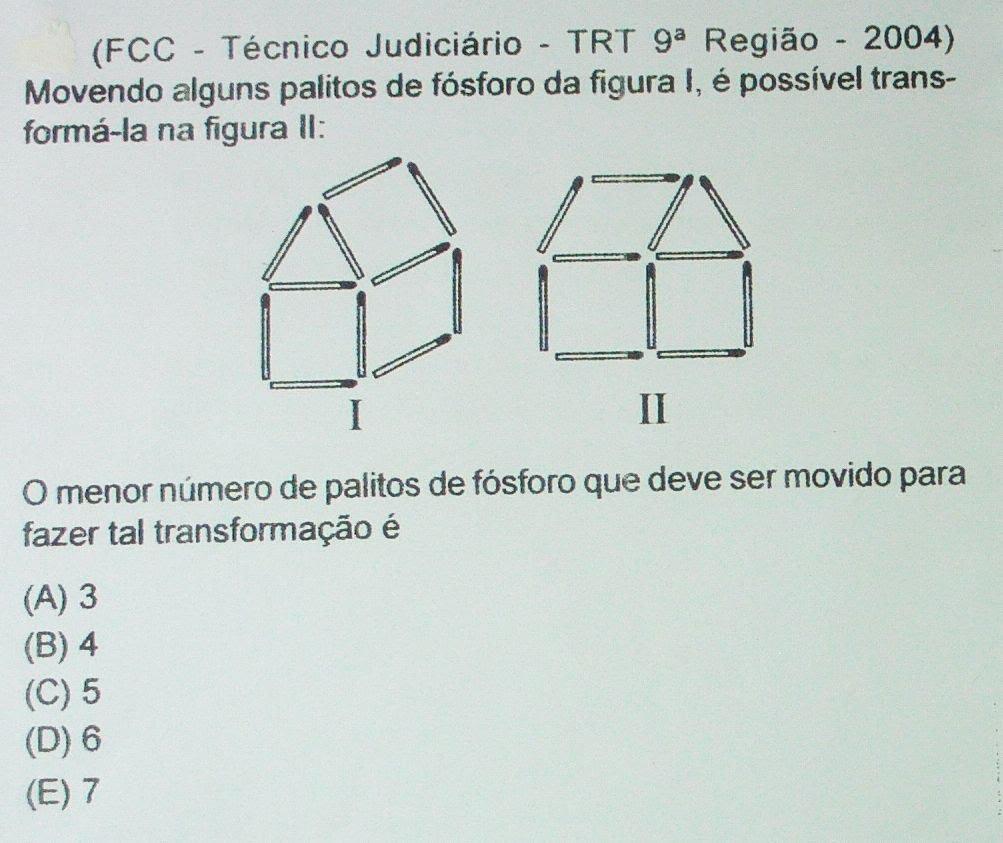 Raciocínio Lógico Exercício de concurso para concursos, Figuras Lógicas, Aula Nº 181