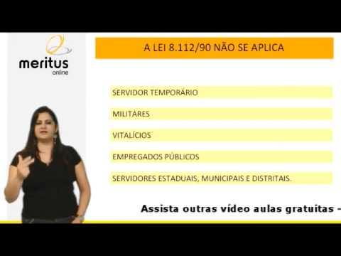 Vídeo Aula   Direito Administrativo Lei 8112   Concurso MPU