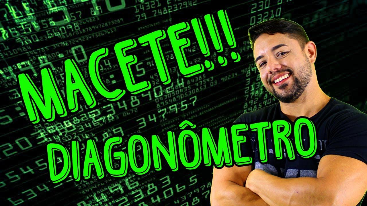 DIAGONÔMETRO - MACETE PARA CALCULAR O NÚMERO DE DIAGONAIS DE UM POLÍGONO - MATEMÁTICA