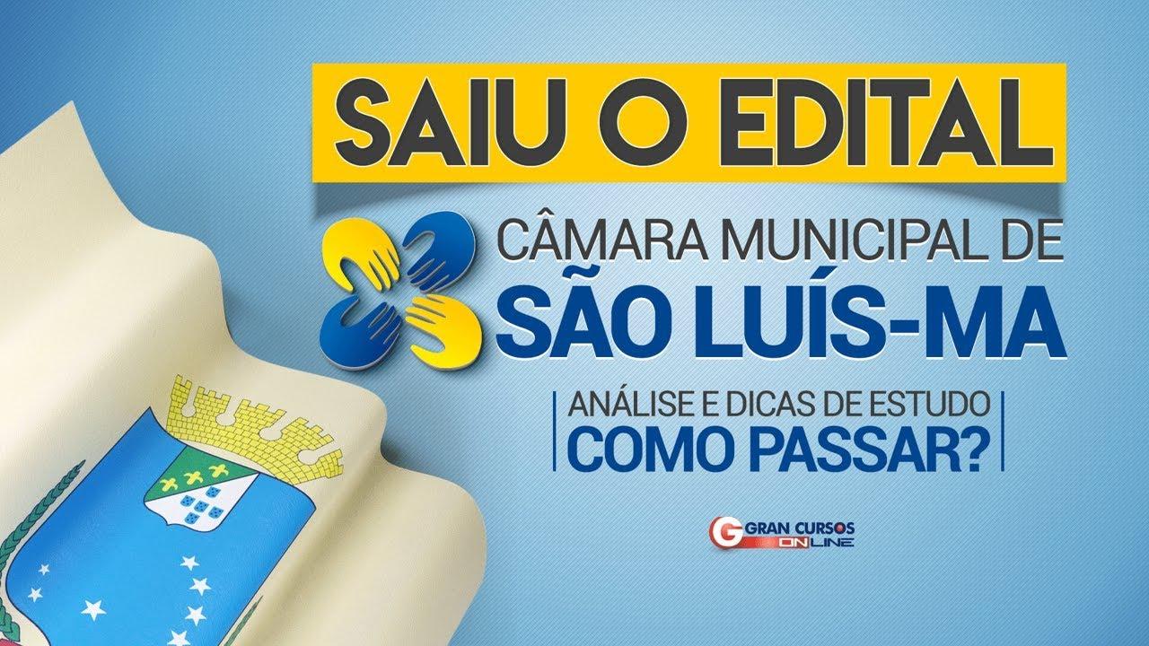 Concurso Câmara Municipal de São Luis| Análise do Edital e Dicas de Estudos - Como Passar?