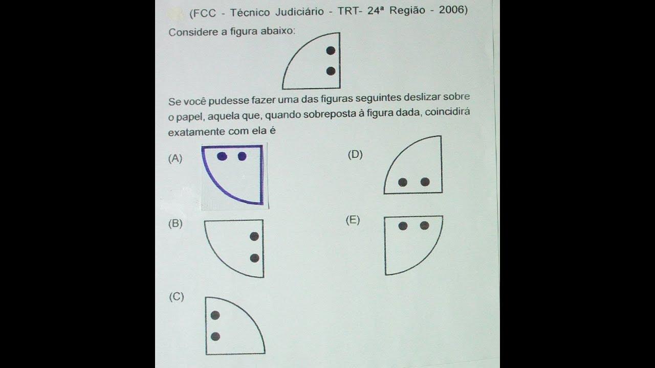 Raciocínio Lógico Exercício de concurso para concursos, (Figura), Aula Nº 177