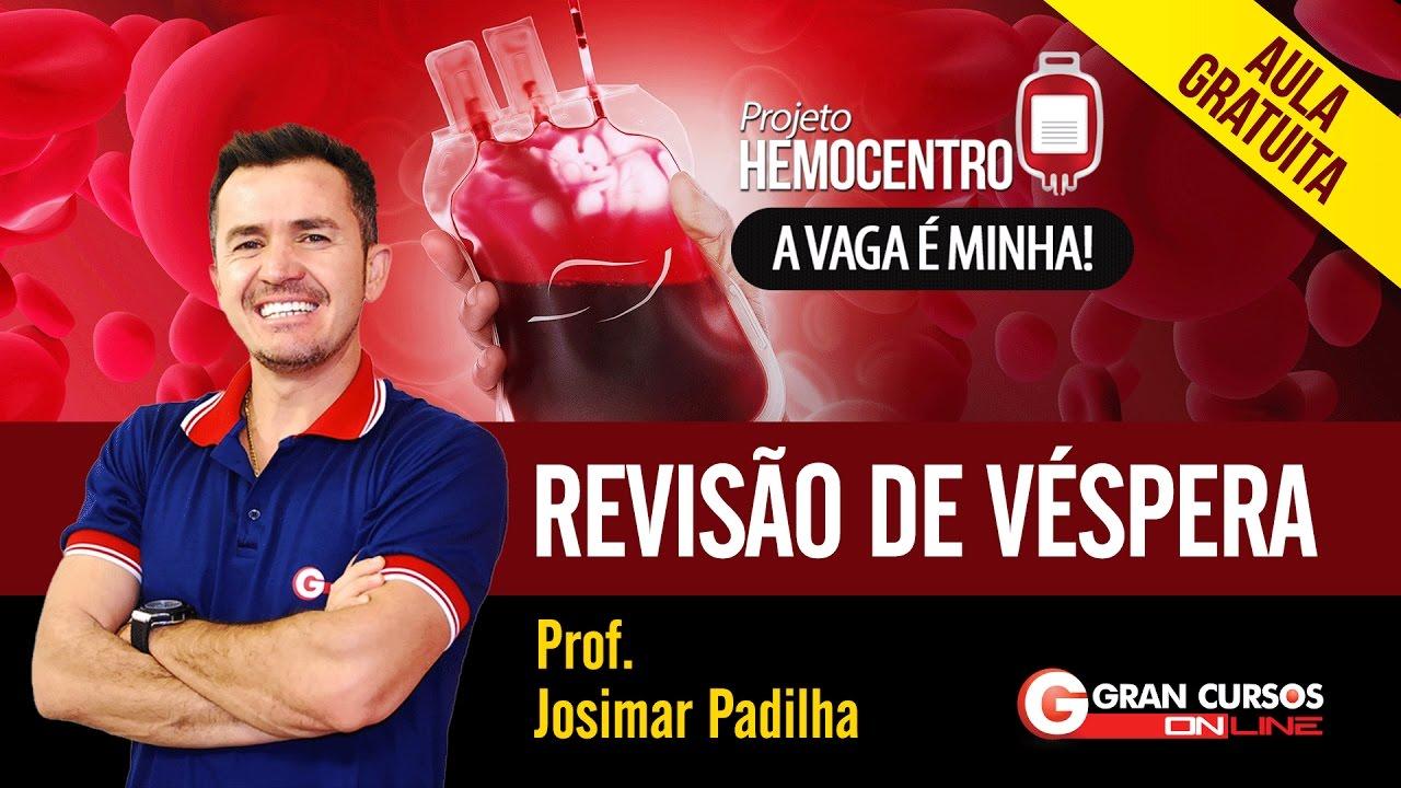 Concurso Hemocentro | Aula Gratuita - Revisão de Véspera |  Prof. Josimar Padilha