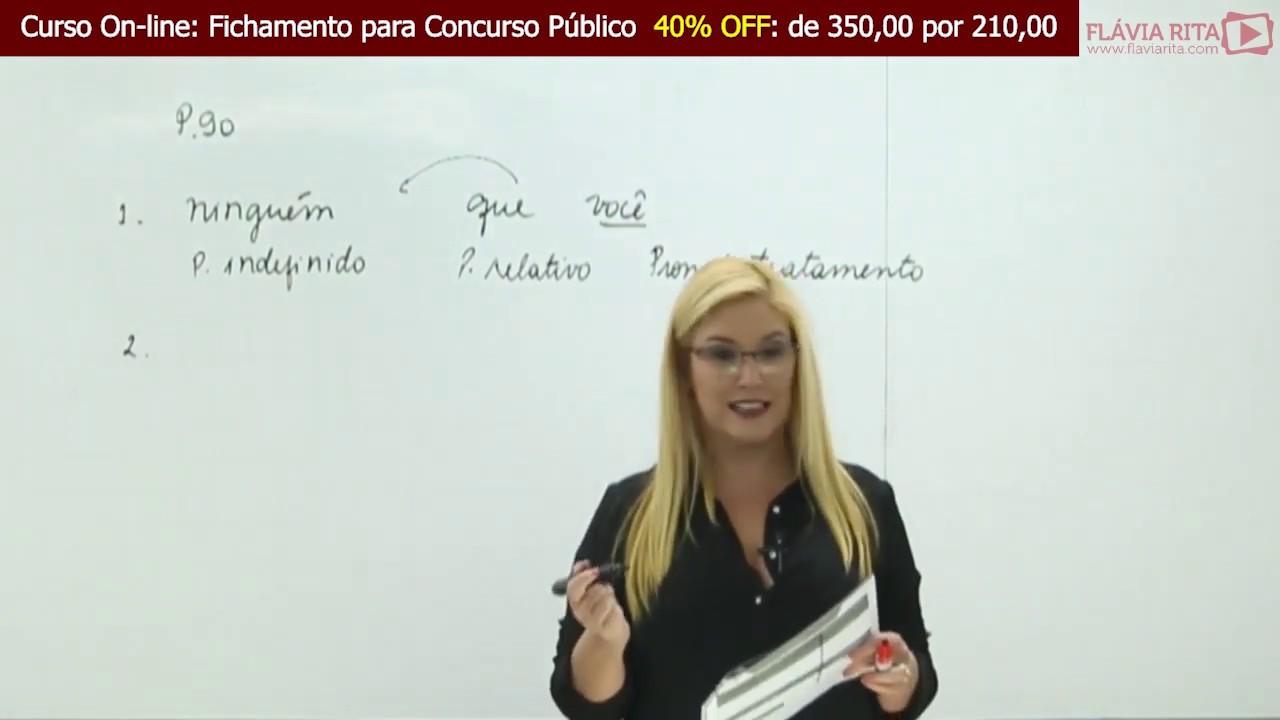 Aula Gratuita Pronomes - Fichamento para Concursos 2019 - Profª Flávia Rita