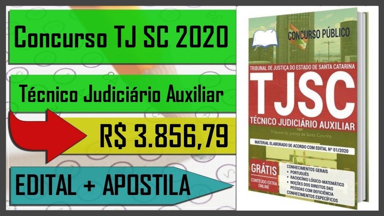 Apostila Preparatória Técnico Judiciário Auxiliar - Concurso TJ SC 2020