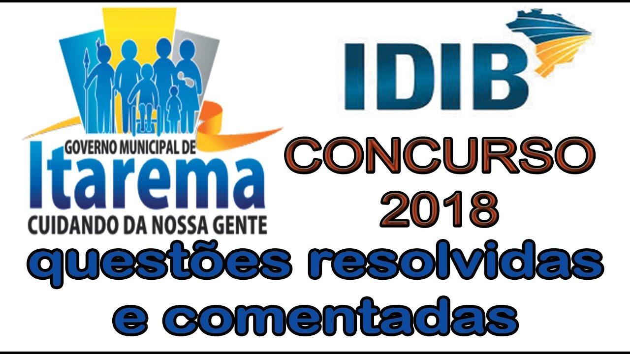 Concurso Prefeitura Itarema 2018 - IDIB