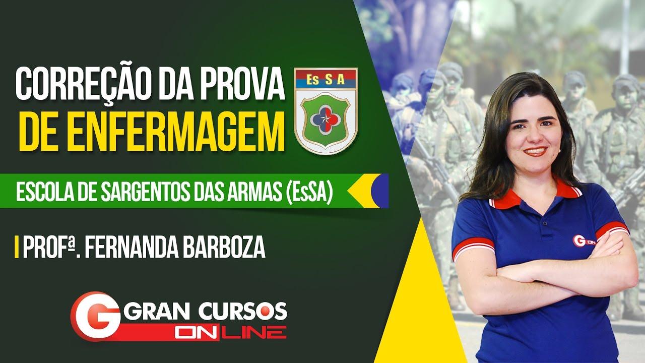 Correção da Prova de Enfermagem (EsSA) | Profª. Fernanda Barboza