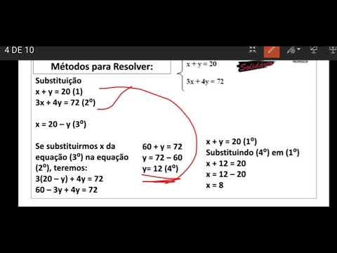 MATEMATICA: Sistemas de equações