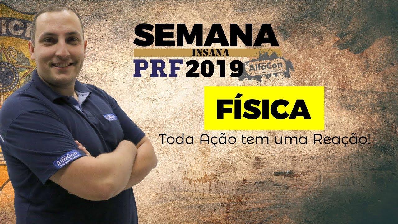 🔥 Aula de Física para o Concurso da PRF - Cinemática Escalar - Caio Fábio - Semana Insana - AlfaCon