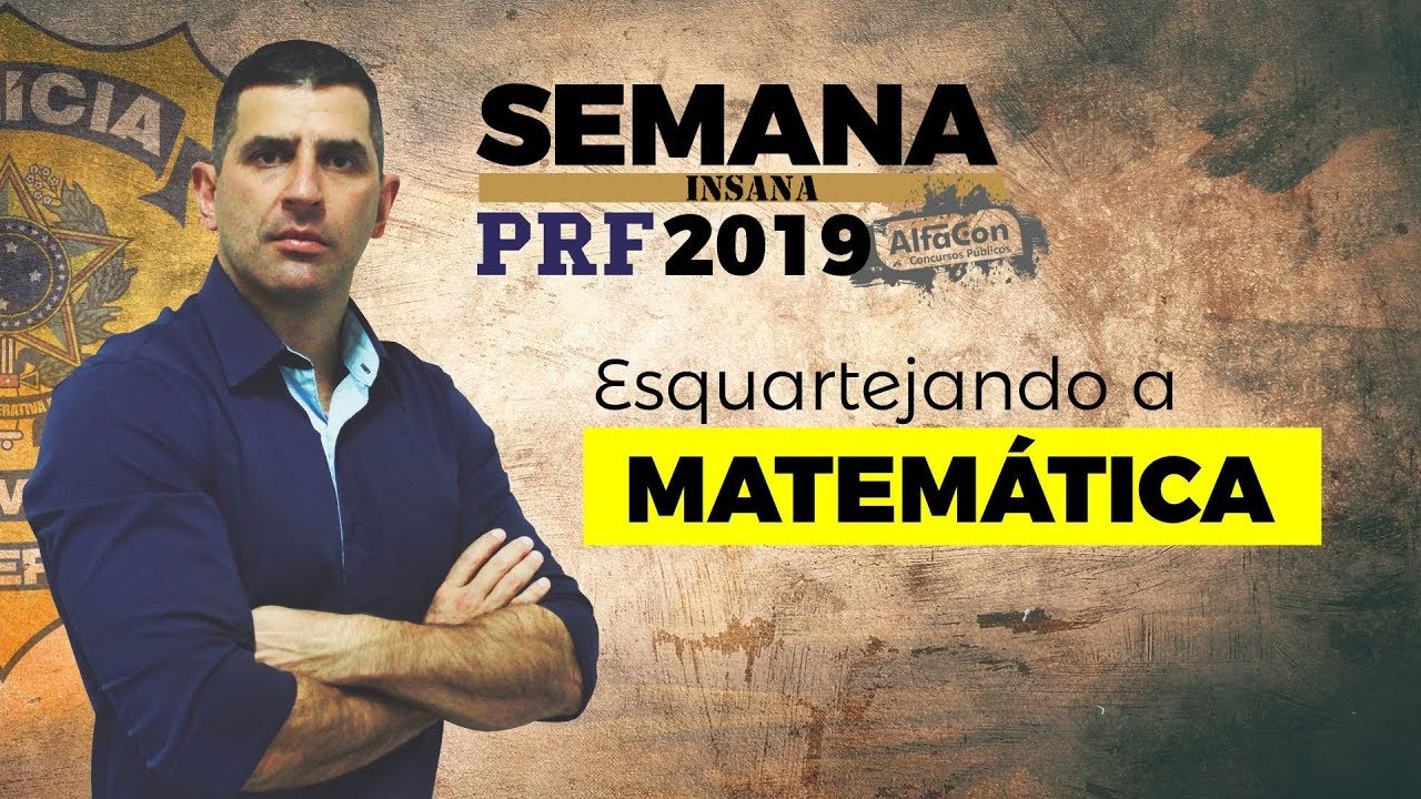 🔥 Aula de Matemática para o Concurso da PRF - Estatística Descritiva - André Arruda - Alfacon
