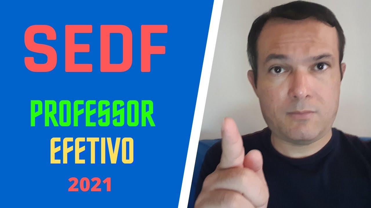CONCURSO SEDF - 2021 - PROFESSOR EFETIVO
