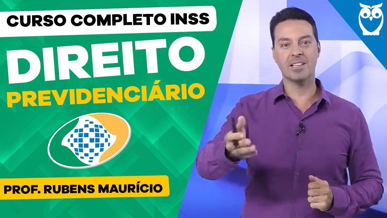 Aula Grátis Direito Previdenciário para Concurso INSS - Prof. Rubens Maurício