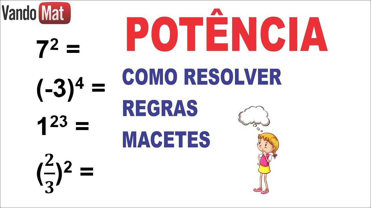 POTENCIA / COMO RESOLVER / REGRAS E MACETES #macete #potencia #matematica #concurso