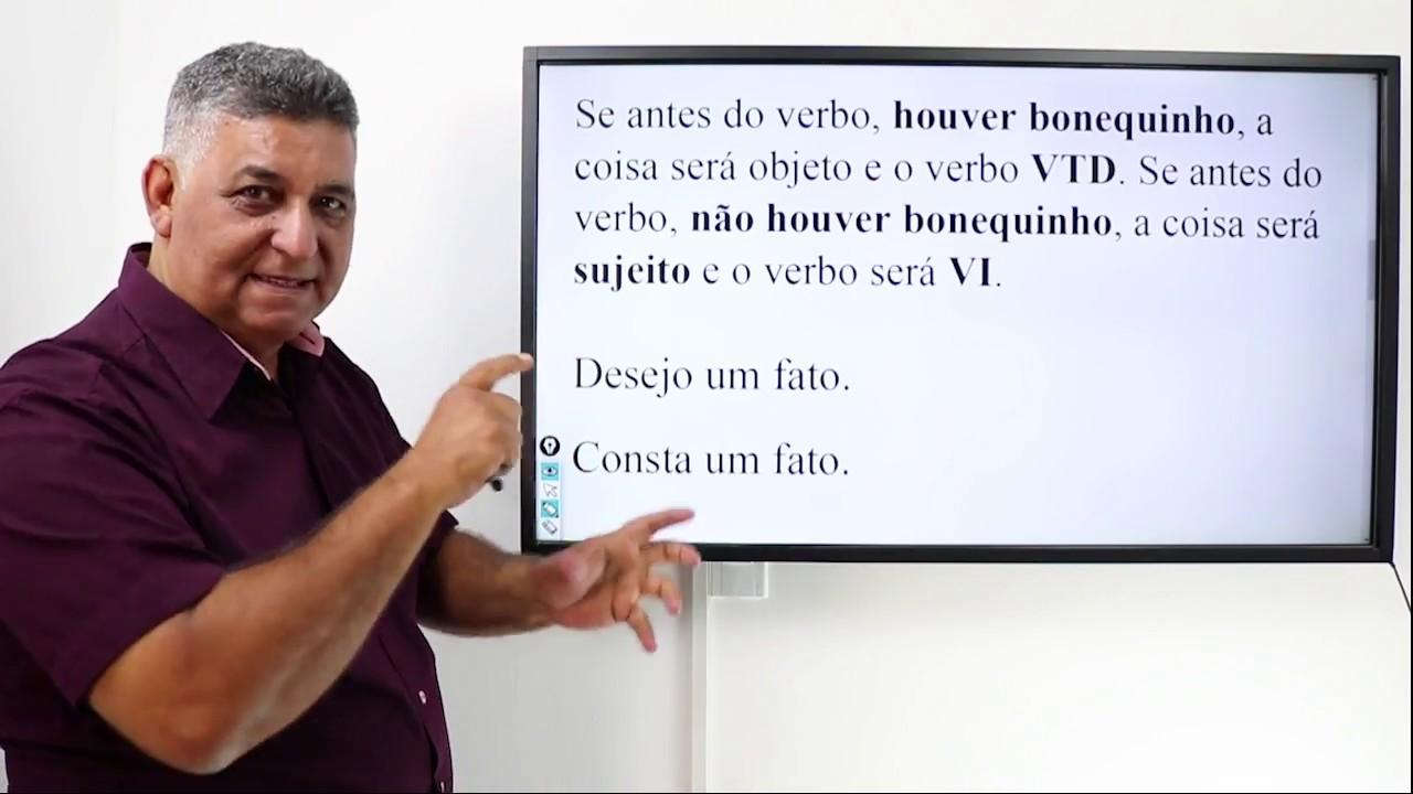 Português para Concursos – DICAS DE  VERBO TRANSITIVO DIRETO / VERBO INTRANSITIVO